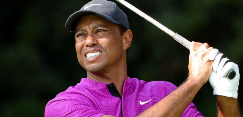 The Masters: Tiger Woods' defence set to end after long third day at Augusta