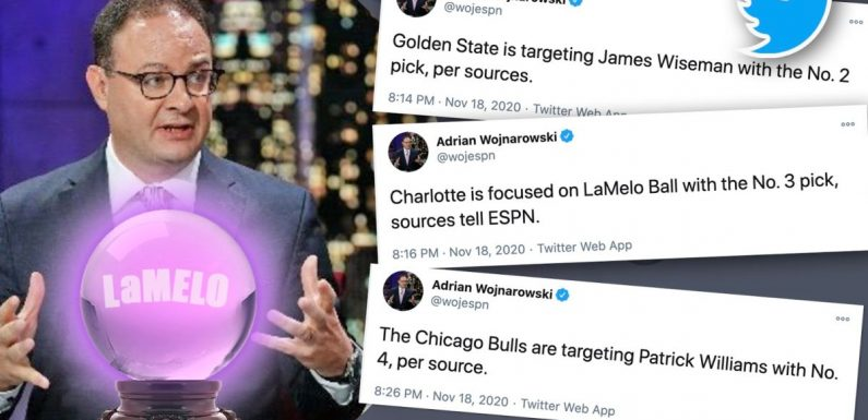 Twitter was the place to be for the NBA's first virtual draft as Woj crushed it