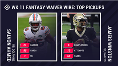 Best Fantasy Week 11 Waiver Pickups: Salvon Ahmed breaks out, Jameis Winston plays after Drew Brees injury