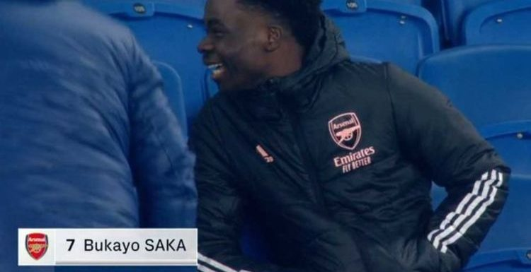 Bukayo Saka's disbelief caught on camera after Man of the Match decision in Arsenal win