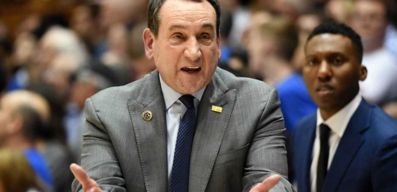Duke coach Mike Krzyzewski wants NCAA 'to assess where we're at' with more COVID-19 cancellations