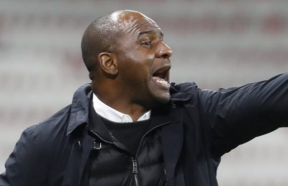 Patrick Vieira 'sacked by Nice' after run of five successive defeats