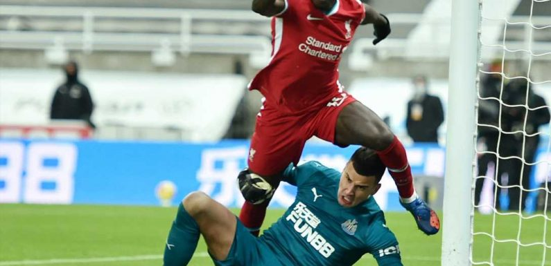 Michael Owen 'astonished' Sadio Mane didn't go down for penalty in Liverpool draw with Newcastle