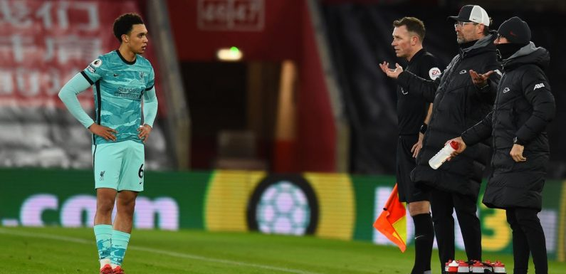 Trent Alexander-Arnold sets unwanted Premier League record in 1-0 Liverpool loss