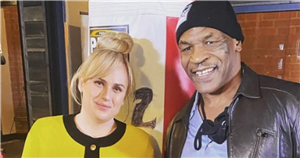 Mike Tyson and Rebel Wilson pose together showing off impressive transformations