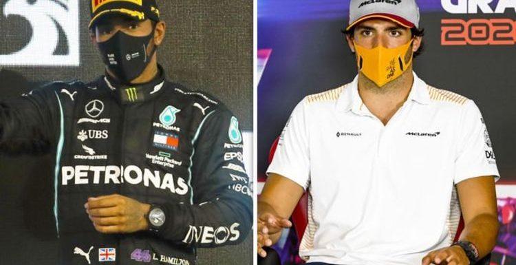 Lewis Hamilton change inspiring Carlos Sainz as he makes Ferrari pressure admission