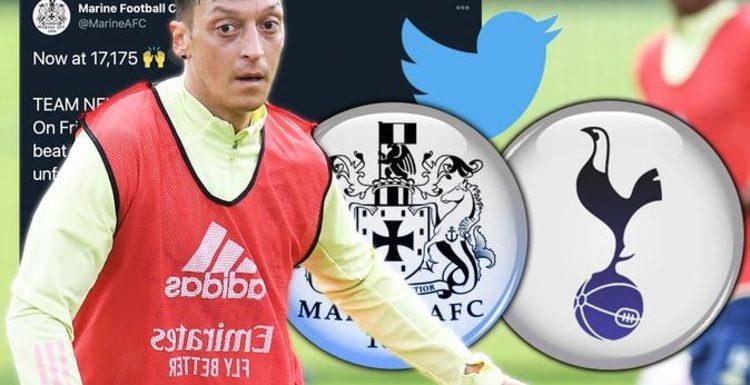 Marine were 'offered Mesut Ozil on loan' for Tottenham FA Cup tie joke non-league club