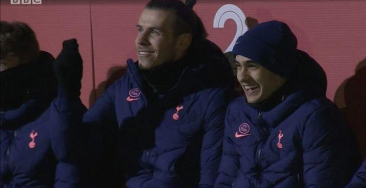 Gareth Bale and Tottenham subs caught trolling Dele Alli during Marine FA Cup clash