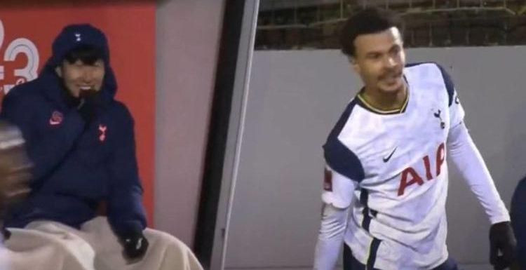 Tottenham stars Gareth Bale and Son Heung-min mock Dele Alli for moment in Marine win