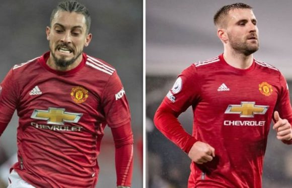 Man Utd star Alex Telles makes feelings on Luke Shaw clear ahead of Liverpool clash