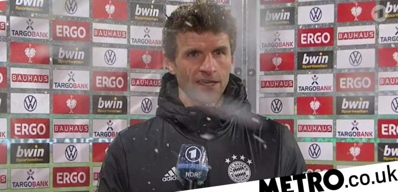 Thomas Muller gets angry with interviewer after Bayern Munich's shock cup exit