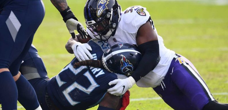 Baltimore Ravens stuff Derrick Henry, knock off Tennessee Titans in NFL wild-card playoff game
