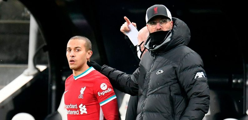 Klopp drops Thiago hint as Liverpool without six first-team stars at Southampton