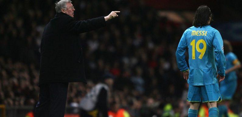 Sir Alex Ferguson's advice for marking Lionel Messi when Barcelona faced Man Utd