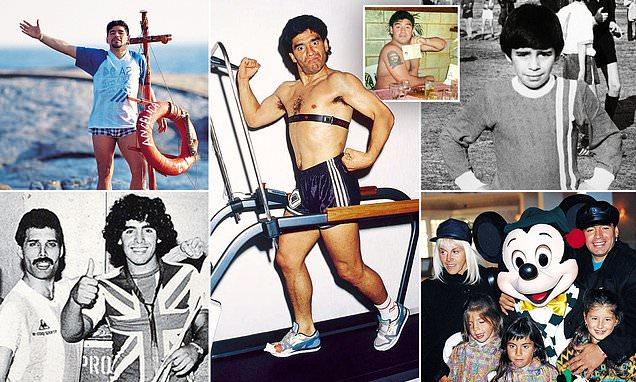 An exclusive view inside the family album of Argentina legend Maradona