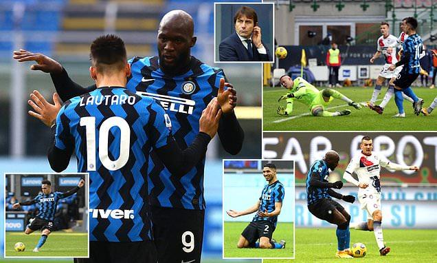 Inter Milan 6-2 Crotone: Lautaro Martinez blasts a hat-trick