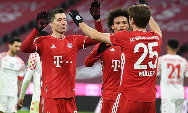 Bayern Munich 5-2 Mainz: Hansi Flick's side regain top spot