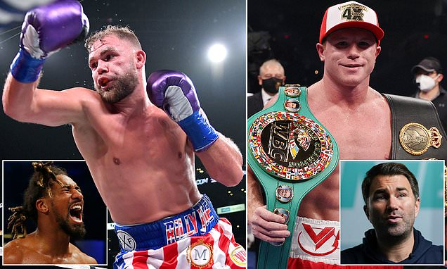 Saunders wants to fight Andrade BEFORE a May showdown with Canelo