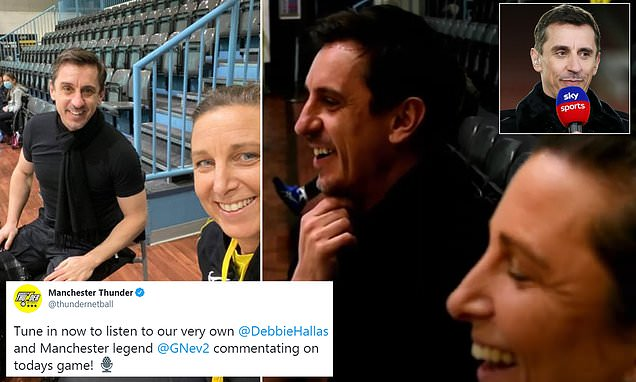 Neville switches football for netball in Manchester Thunder game