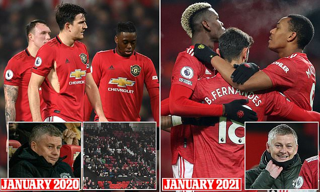 Man United unrecognisable from team that lost to Burnley last January