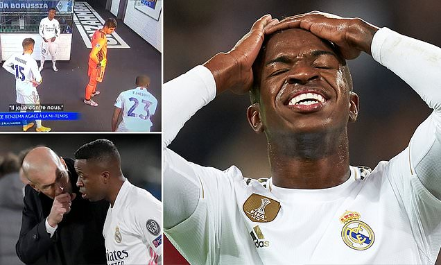 Zinedine Zidane 'has fallen out with Real Madrid winger Vinicius'