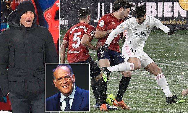 LaLiga chief slams Zidane's 'excuses' for Madrid's draw with Osasuna