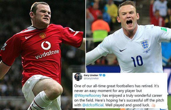 Gary Lineker leads tributes to retiring star Wayne Rooney