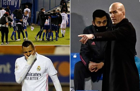Zidane admits the pressure is back on after Real's Copa del Rey exit