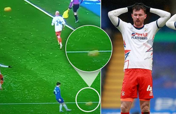 Luton furious after TWO BALLS were on pitch before first Chelsea goal