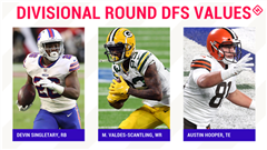 Divisional Round NFL DFS Picks: Best value players, sleepers for DraftKings, FanDuel daily fantasy football lineups