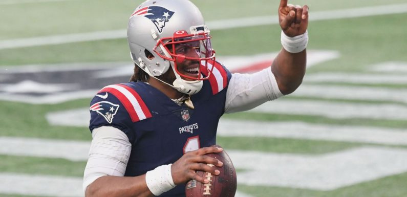 Cam Newton's first career receiving touchdown ties Patriots with Jets