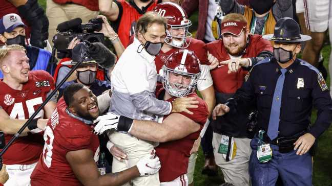 Why is Nick Saban smiling? The answer goes beyond him leading Bama to another title