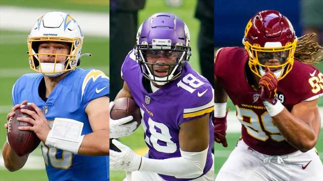 NFL rookie rankings: Justin Herbert, Justin Jefferson and Chase Young headline top 25
