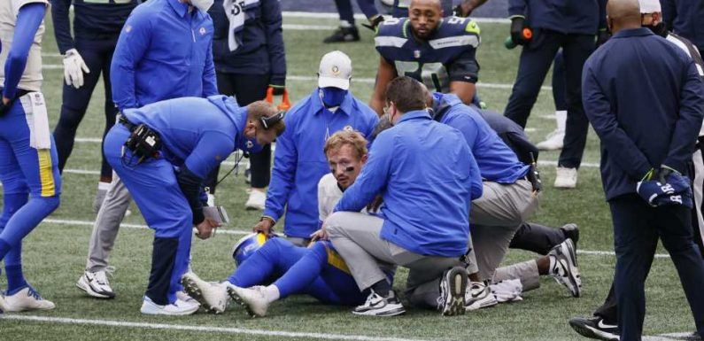 Jamal Adams sends Rams' John Wolford to hospital following controversial hit