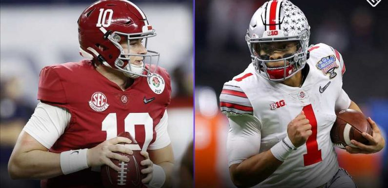 What time does the College Football Playoff championship start? TV channel, halftime show for 2021 NCAA title game