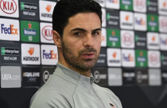 Mikel Arteta left in dark over Arsenal's Europa League tie against Benfica