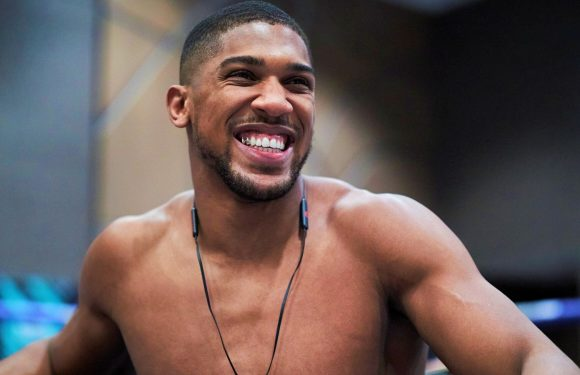 Anthony Joshua: Watch a surprise work-out that he took for pupils at his old school