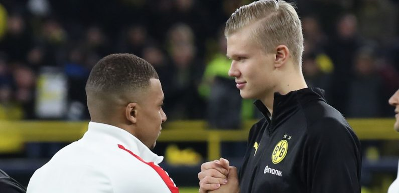 Kylian Mbappe and Erling Haaland's Champions League goal stats compared