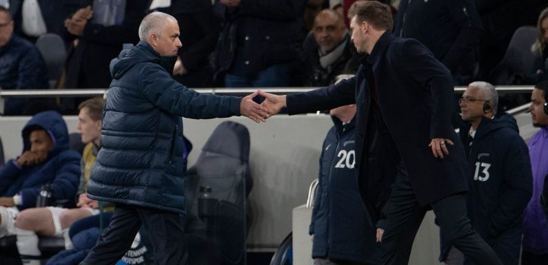 Julian Nagelsmann 'open' to Tottenham job as Jose Mourinho faces crucial 12 days
