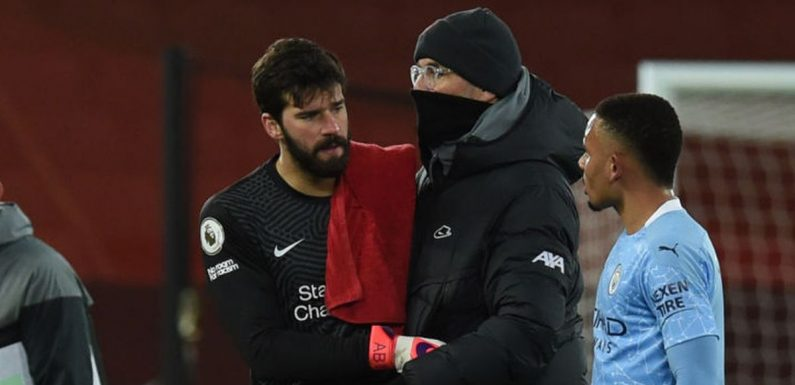 Jurgen Klopp's message to Alisson after Liverpool keeper's howlers vs Man City