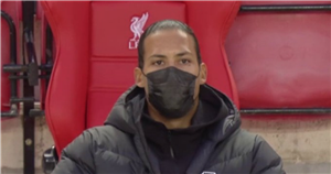 Van Dijk spotted at Anfield for Liverpool vs Everton four months after injury