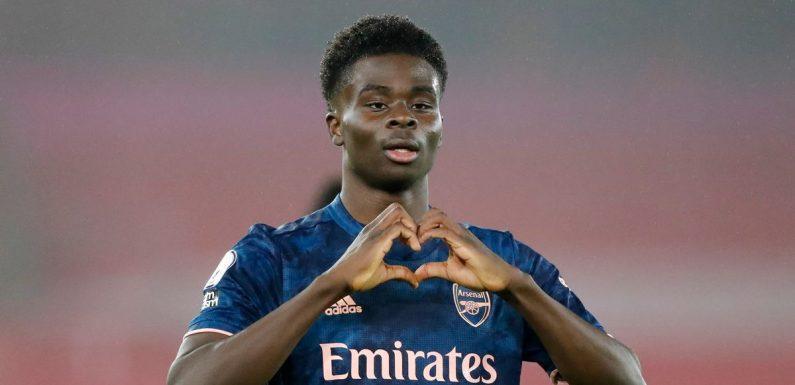 Saka includes Arsenal, Chelsea and Man Utd stars as Premier League's best