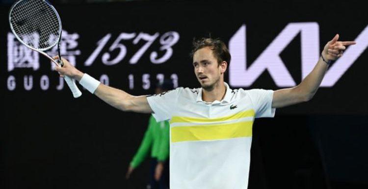 Daniil Medvedev sets up Novak Djokovic Australian Open final with Stefanos Tsitsipas win