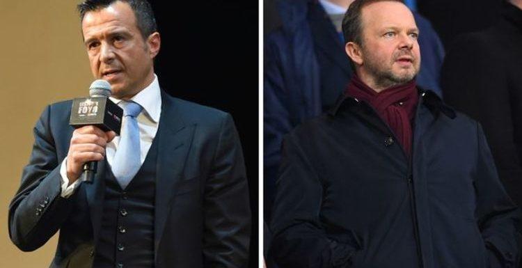 Jorge Mendes offers Man Utd chief Ed Woodward Edinson Cavani alternative