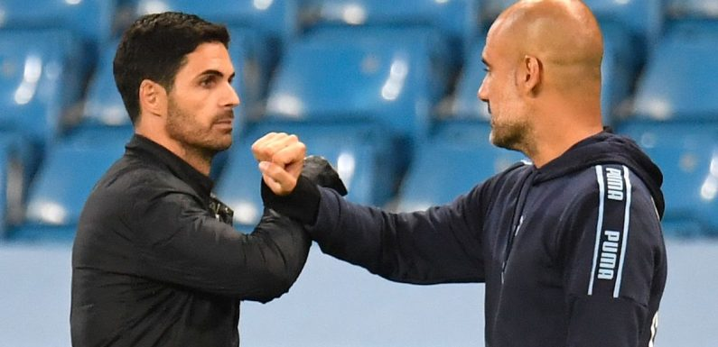 Arsenal boss Mikel Arteta says copying Pep Guardiola's Man City would be fatal