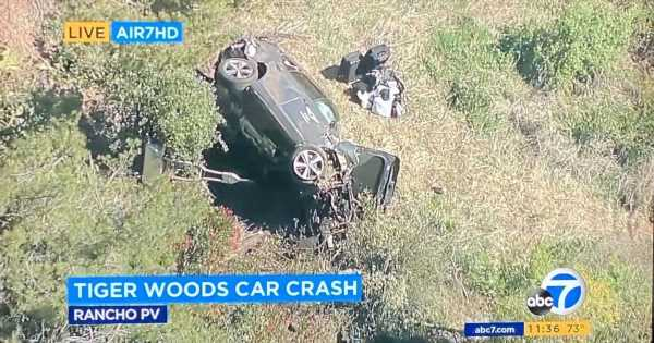 Tiger Woods conscious and has non-life threatening injuries after horror crash