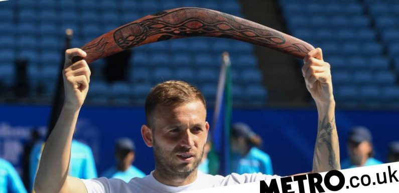 Dan Evans reacts after winning first ATP Tour title on eve of Australian Open