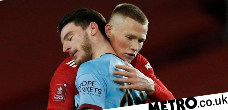 Declan Rice issues apology after West Ham's defeat to Man Utd