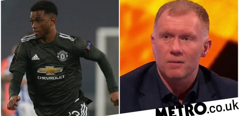Paul Scholes unsure over one area of Amad Diallo's play after his Man Utd debut