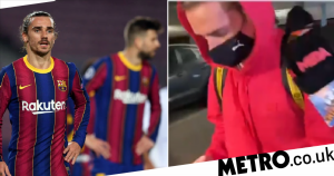 Antoine Griezmann leaves Barcelona after heated row with Pique during PSG loss
